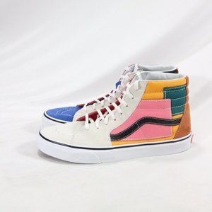 VANS SK8-Hi PATCHWORK Multi Sneakers Like New